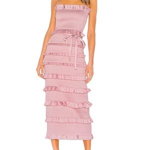 V. Chapman Lily Dress Pink Parfait NWT